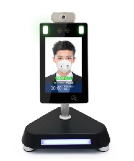 Non-contact Body Temperature scan Facial recognition door access control