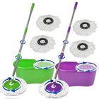 Customizable eco friendly cleaning mop cotton material rotating mop