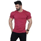Fashion Men Round Neck Cotton Customized Blank Paint Design Men's T Shirt for gym beast big muscular man t shirts