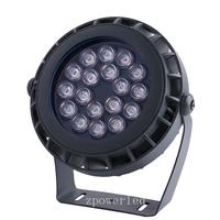 Custom color mode 18w floodlight ip65 waterproof dmx rgb outdoor led flood light