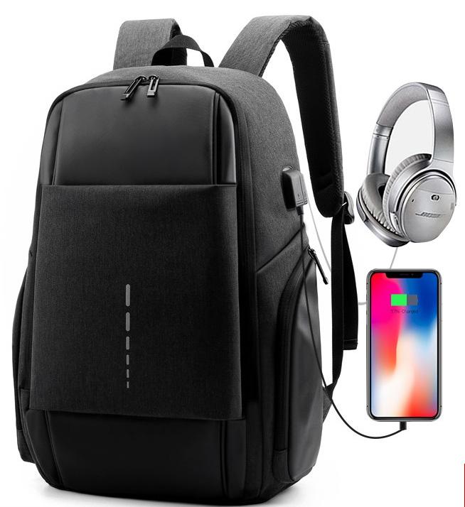 Grosir Tas Sekolah dengan Port USB Outdoor Laptop Paket Harian Smart Ransel Kantong Ransel untuk Remaja