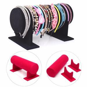 Velvet Separate Detachable Headband Hair Hoop Hairband Hair Clasp Holder Display Stand Rack Organizer