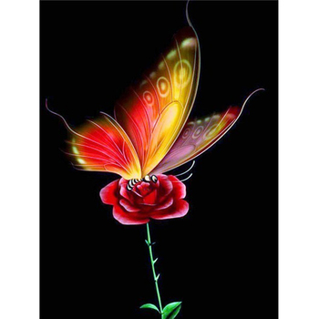Diy 5d Diamante Bordado Pintura By Numbers Kit Pintura Diamante Da Borboleta Na Flor Wall Art Decor