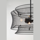 Black Hanging Pendant 3 Light Ceiling 3 Tiers Detachable Iron Meshed With Low Price High Quality Black Finish