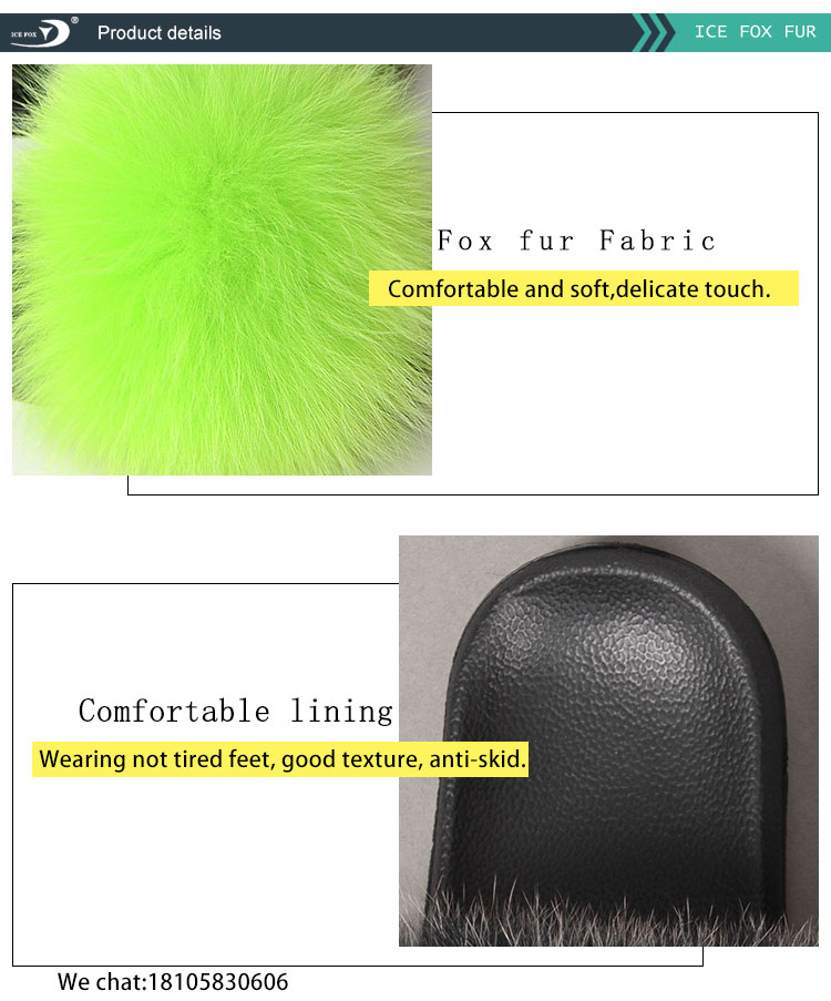 2020 Women Fashion Style Cheap Colorful Soft Fur Slides Comfortable Home Fur Slipper Sandals
