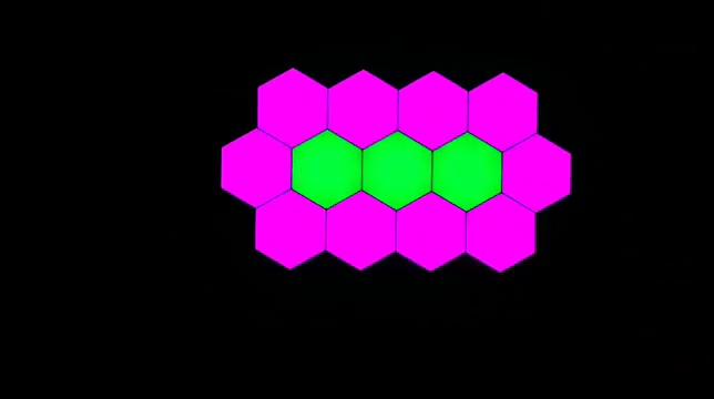 JEEJA 2020 الإبداعية لتقوم بها بنفسك التحكم عن بعد واللمس اللون تغيير وحدات Led سداسية ضوء للديكور المنزل