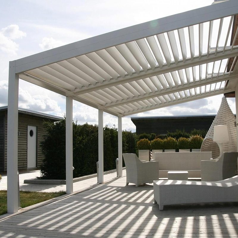 10x12 garden modern waterproof wall mounted roof de jardin en metal electric bioclimatic Aluminum pergola