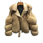 2020 Winter Motorcycle Sheepskin Fur Jacket Model Designer Women Real Fox Fur Coat For Woman Trendy Genuine Leather Coats