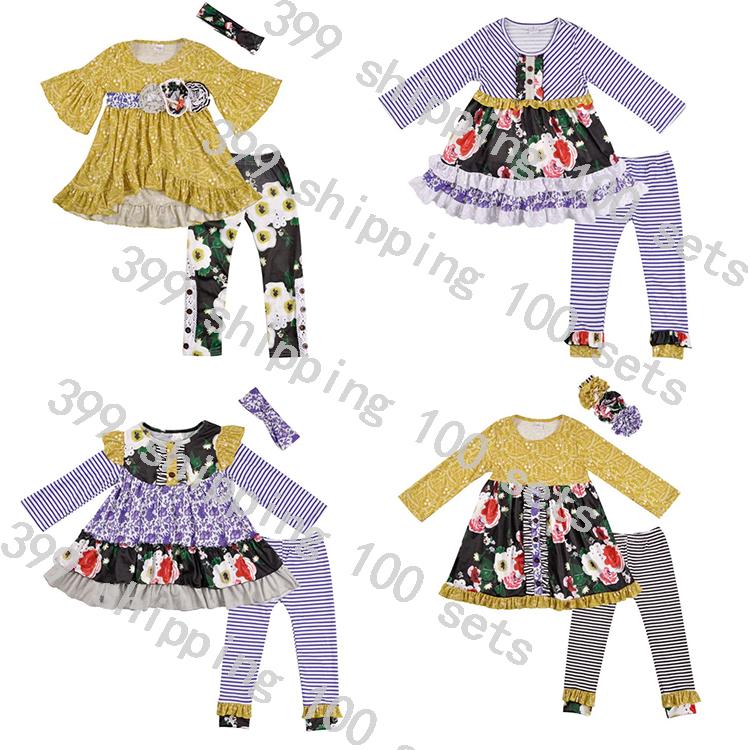 高品質ベイビーガール服子供服セットは秋と冬の卸売服