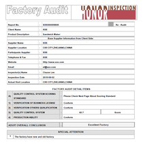 Factory audit and manufacturer supplier inspection service in China India Bangladesh Vietnam Pakistan