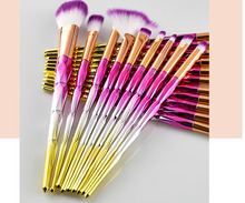 20 Pcs Make Up Brushes Set Bubuk untuk Fan Brush Eye Shadow Blending Brush Shading Alis <span class=keywords><strong>Kontur</strong></span> Indah Make Up alat