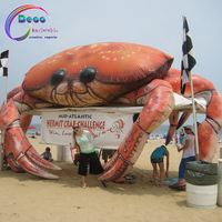 Giant inflatable crab model