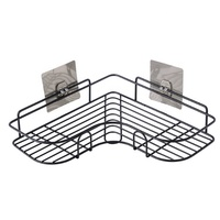 Guangdong HELI SUS 304 Stainless Steel Bathroom basket hanging shelf corner adhesive shower caddy Bathroom basket