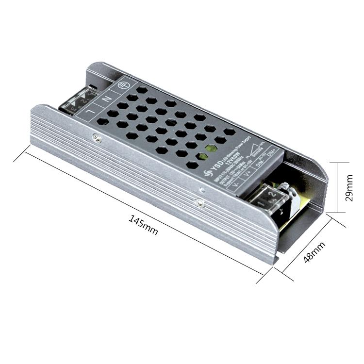 Slim DC 60W 12V 24V 5A SMPS LED Strip Light Driver Power Supply