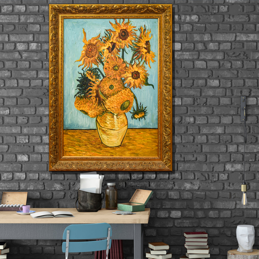 High Quality Famous Artwork Van Gogh Series Sunflowers Hand painted Reproduction Oil Painting