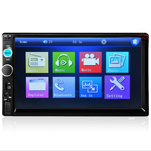Auto Audio stereo FM Radio Player <span class=keywords><strong>Empfänger</strong></span> Zwei DIN MP3 Player mit AUX Eingang In Dash Bluetooth optional