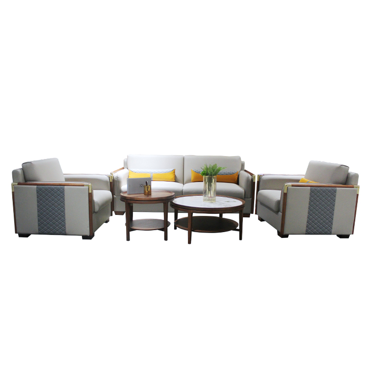 High quality elegant design waiting single seat office sofa reception leather sofa office