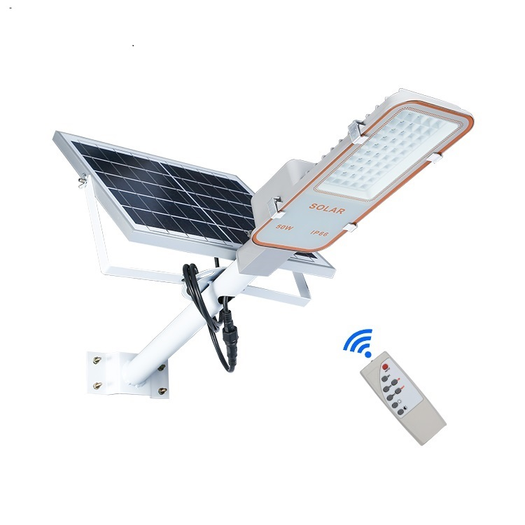 Remote Control Tahan Air IP66 Outdoor 24 W 50 W 70 W 100 W Integrated Solar LED Lampu Jalan Daftar Harga