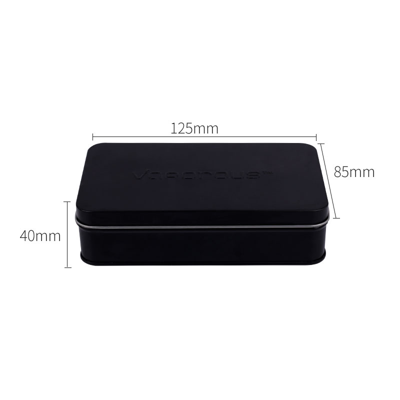 High quantity small matte black hinge electronics cosmetic packaging box