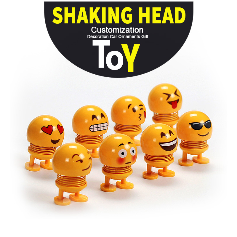 Cute Creative Shaking Head <strong>Doll</strong> Decoration Car Ornaments Gift Smiley face Spring <strong>Doll</strong>