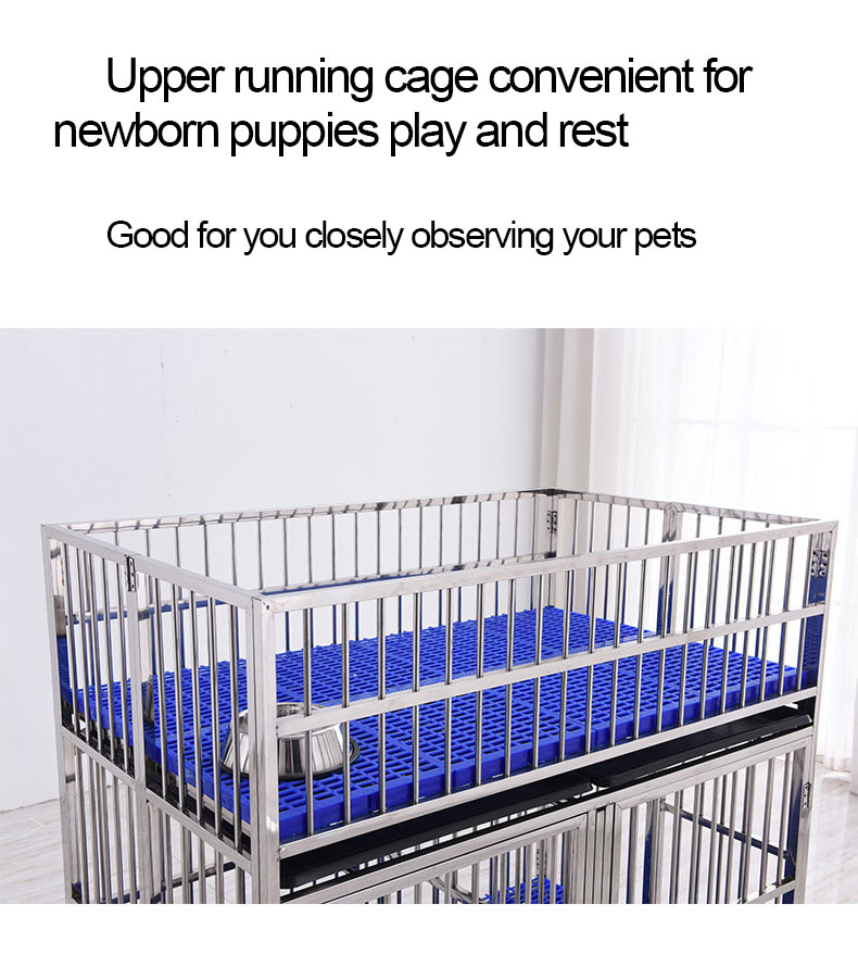 2019 Designed Large Stainless Steel Dog Cage Hot Products