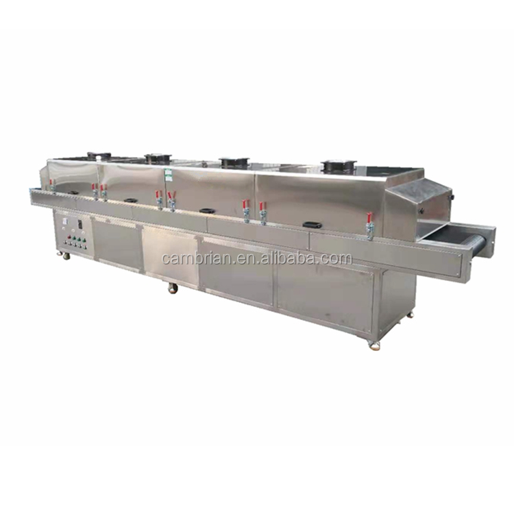 4kw 6meter long Industrial Stainless Steel Tunnel Uv Sterilizer Equipment with Conveyor belt