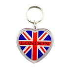 Factory Cheapest Make Your Own Acrylic Key Chain Design Logo Custom Heart Shape Customised Acrylic Keychain