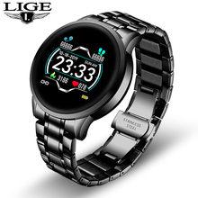 Новые керамические Смарт-часы LIGE для женщин, пульсометр, монитор кровяного давления для Android IOS, спортивные многофункциональные смарт-часы с...(China)