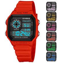 SYNOKE, мужские часы, модный, мужской, светодиодный, для кемпинга, цифровой, военный, роскошный, для улицы, спортивный, дата, часы, мужские, цифров...(Китай)