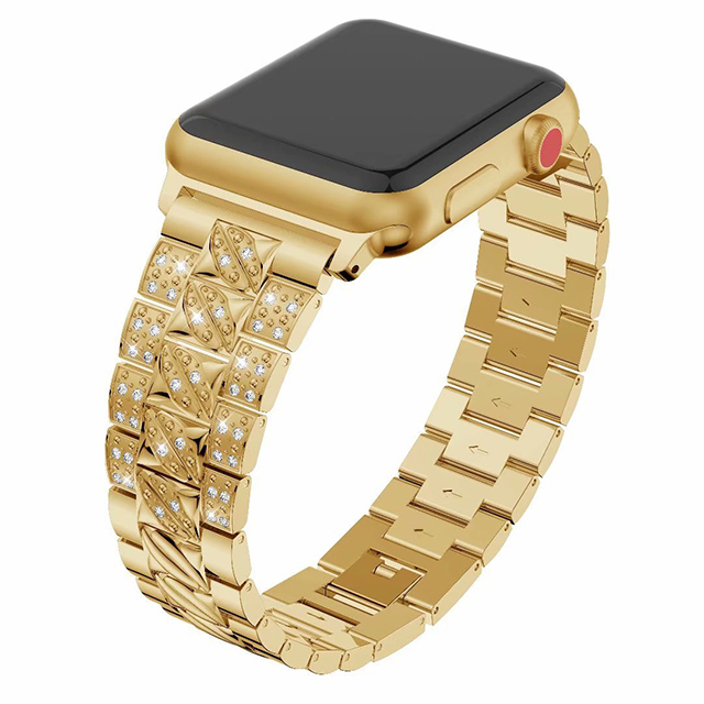 Accept customization applicable for Apple Watch Strap Diamond with stainless steel band strap