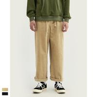 2019 Winter Men Casual Wide-legged Pants Men Corduroy Pants Loose Fit Overalls Solid Color Men Corduroy Pant