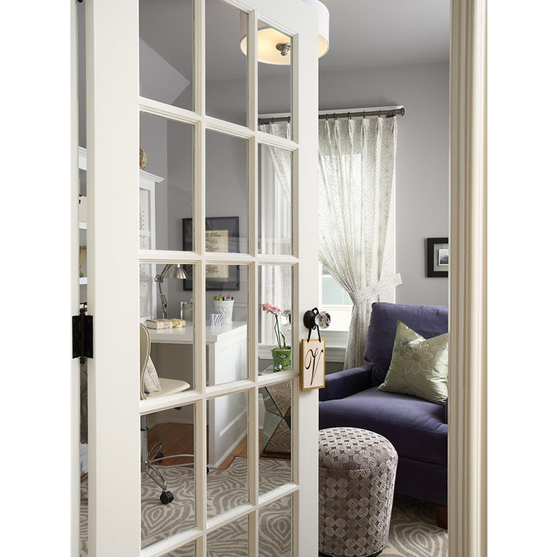 White Frosted Window Gl Bifold Door