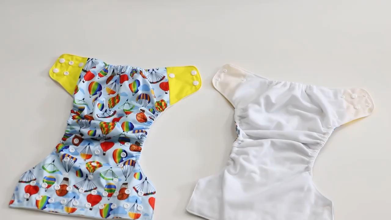 Novo Design Do Bebê Bolso Fraldas de Pano Reutilizáveis Lavável Fralda Com Insert