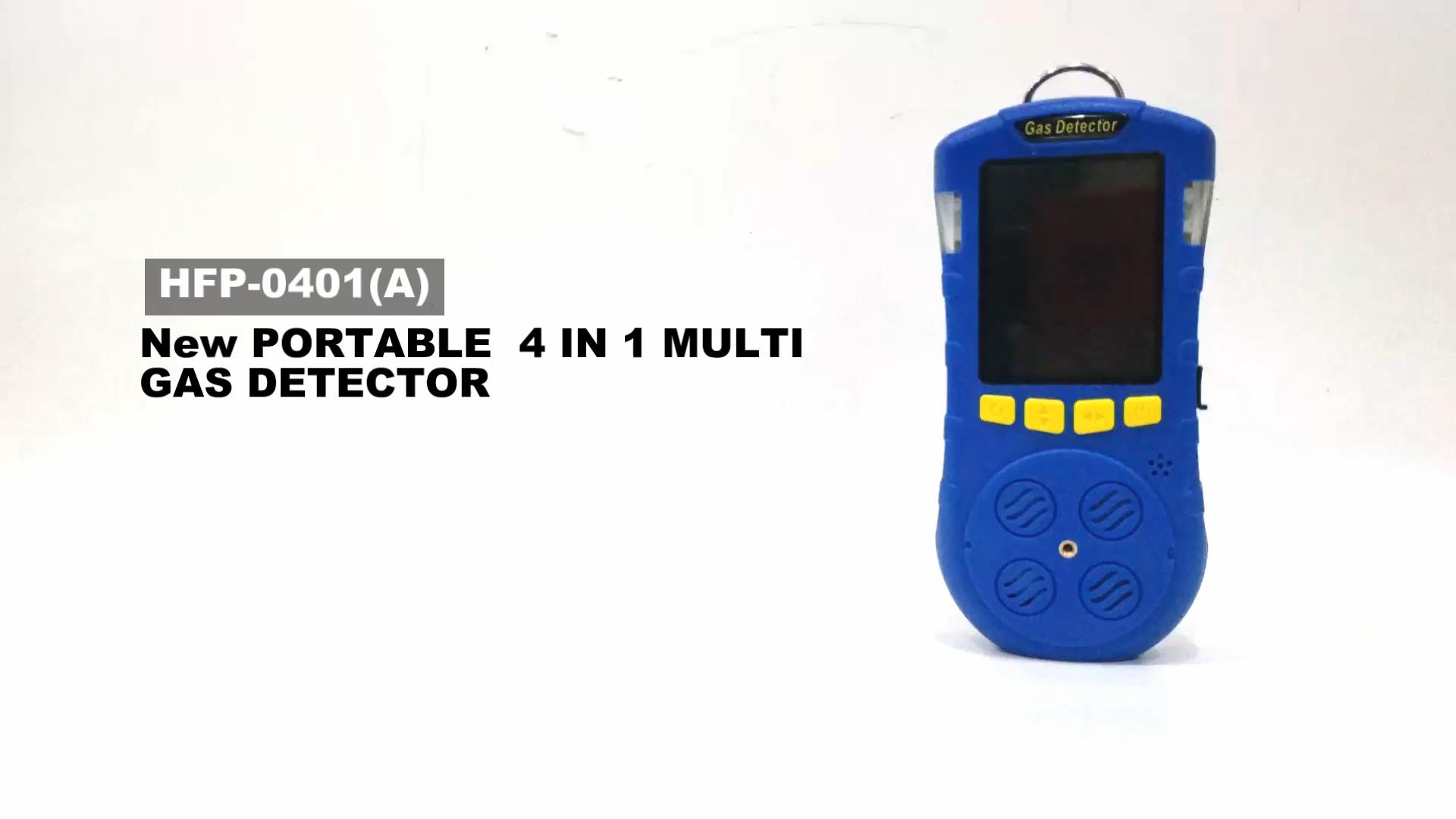 factory price portable biogas ch4 o2 h2s co co2 multi 4 gas detector