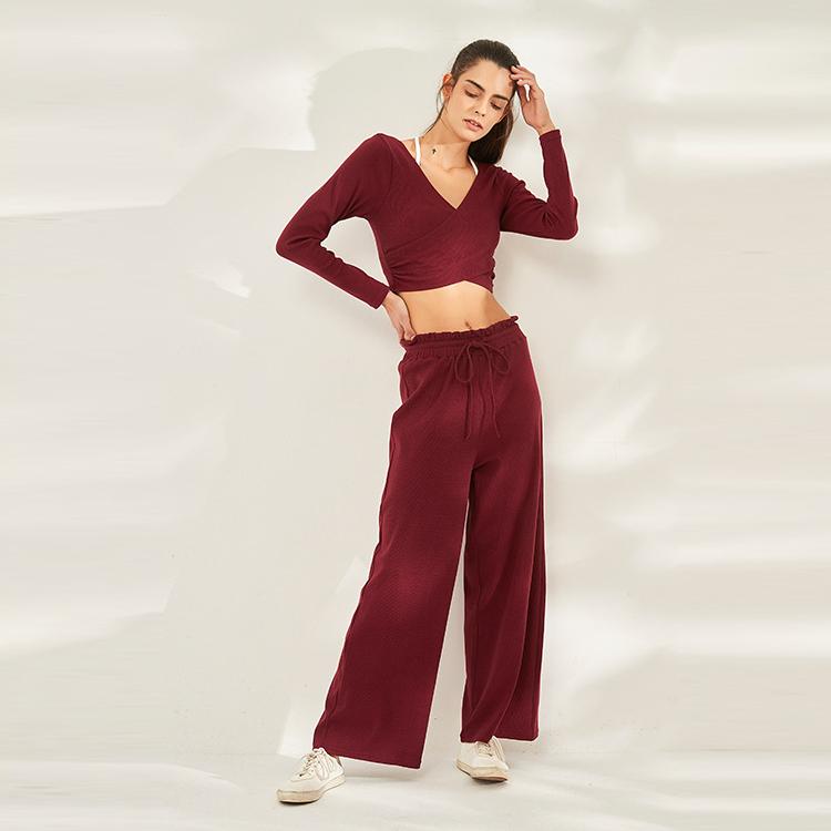 Autumn Winter Sports Loose and Casual Athletic Pants Female Yoga Straight Tube Loose Yoga Pants