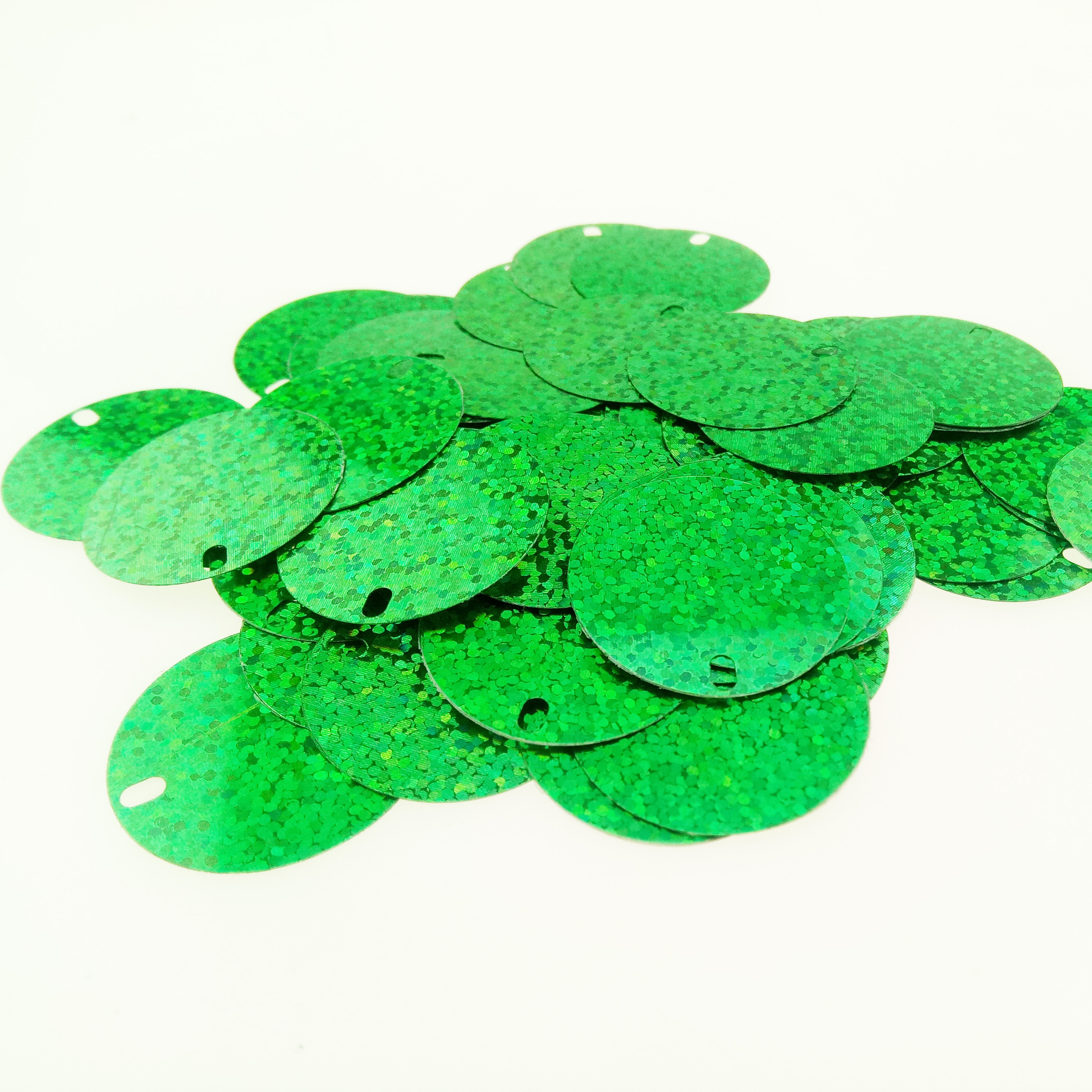 PET Sequin For Outdoor Signs Round Loose Shape Sequins