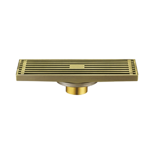 Balcony trench trough ni-bronze floor drain system