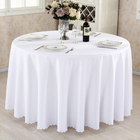 Nice And Durable Round Burgundy Table Cloth White Party Custom Table Cloth