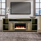 Wood Universal Tv Fireplace console Living Room Storage Entertainment Center