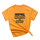 Wholesale And Drop Ship Dripping Melanin Honey Slogan T Shirt Unisex Black Culture Tee Shirts A-363