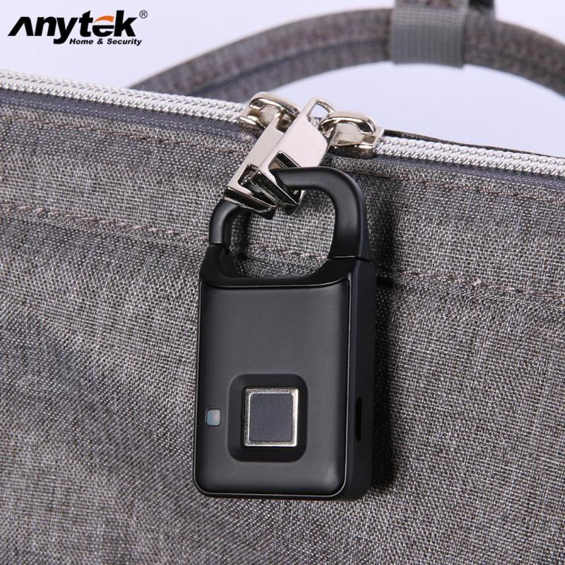 Kunci Pintu P4 Anti-Theft Sidik Jari Gembok IP65 Tahan Air USB Charge Smart Gembok