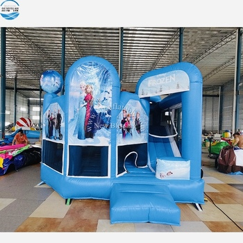 Cheap Frozen Jumping Castle Combo Kids Adults Inflatable Frozen Themed Bounce