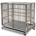 Strong Stainless steel 202 large folding dog house pet kennel cages creates