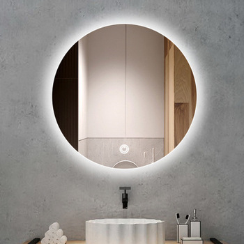 Frameless Frosted Bathroom Mirror Wall