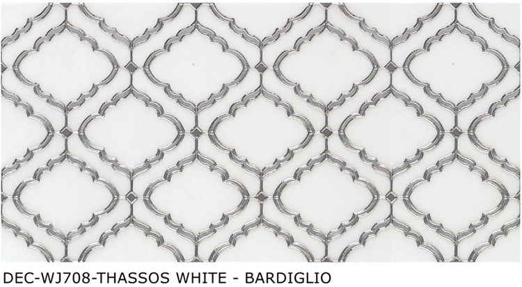hot selling THASSOS Water jet Mosaic Tile Water jet design porcelain tiles new water jet pattern decor tile