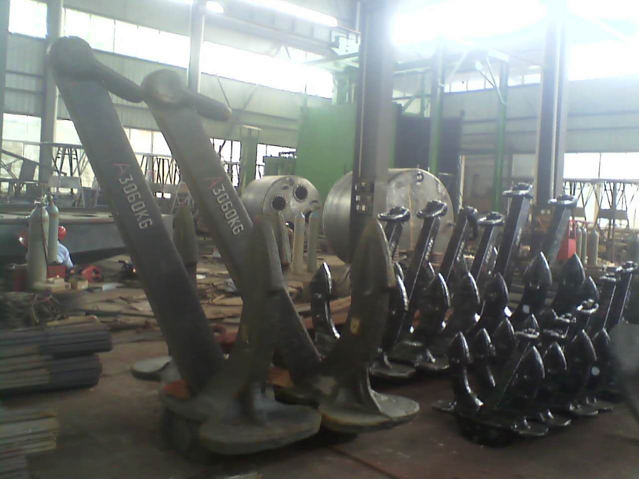 Yt 40kg To 24500kg Casted Marine Hall Anchor - Buy Hall