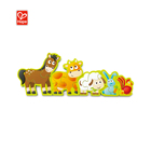 10 Pcs Wooden Puzzles With Double Graphic Educational Wooden Farm Animals Activity Cube Kids Toys
