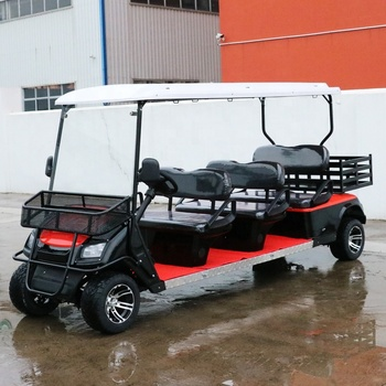 Quartiere Carrello di Golf Elettrico Con Cargo Box 6 Posti Golf Buggy