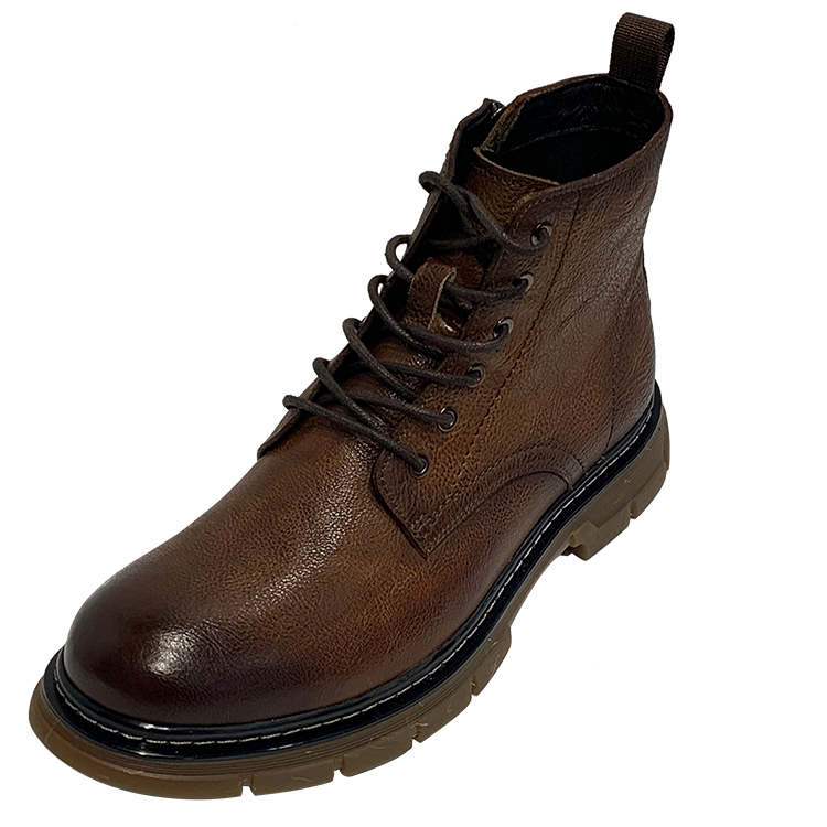 Soft Rubber Sole Steel Toe Ankle Safety Shoes High Suede Tactical Combat Men Classic Leather Boots