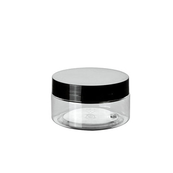 30g  50g 100g hot sale clear plastic cream jar with black lid